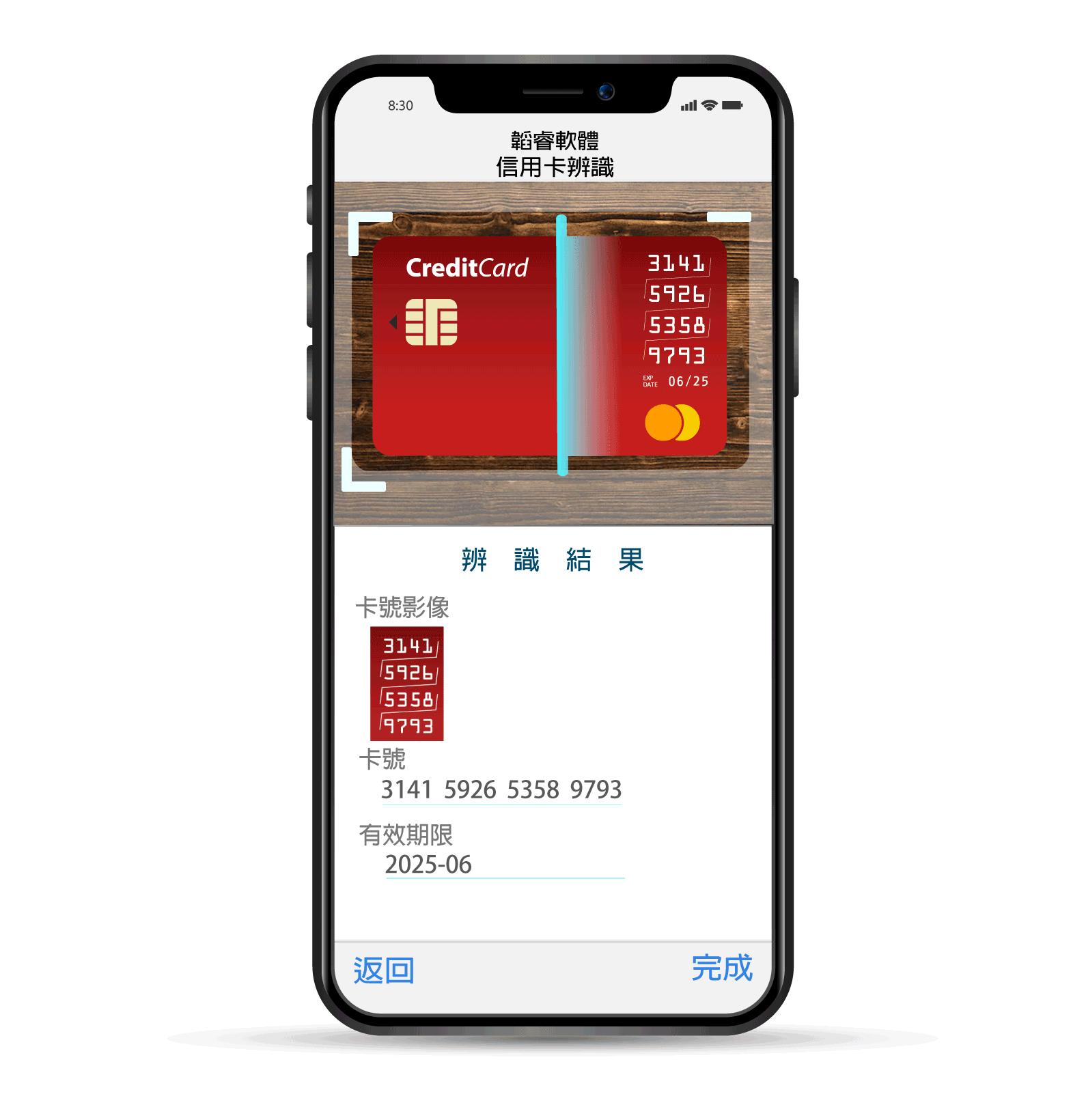 信用卡辨識引擎-矩陣信用卡
