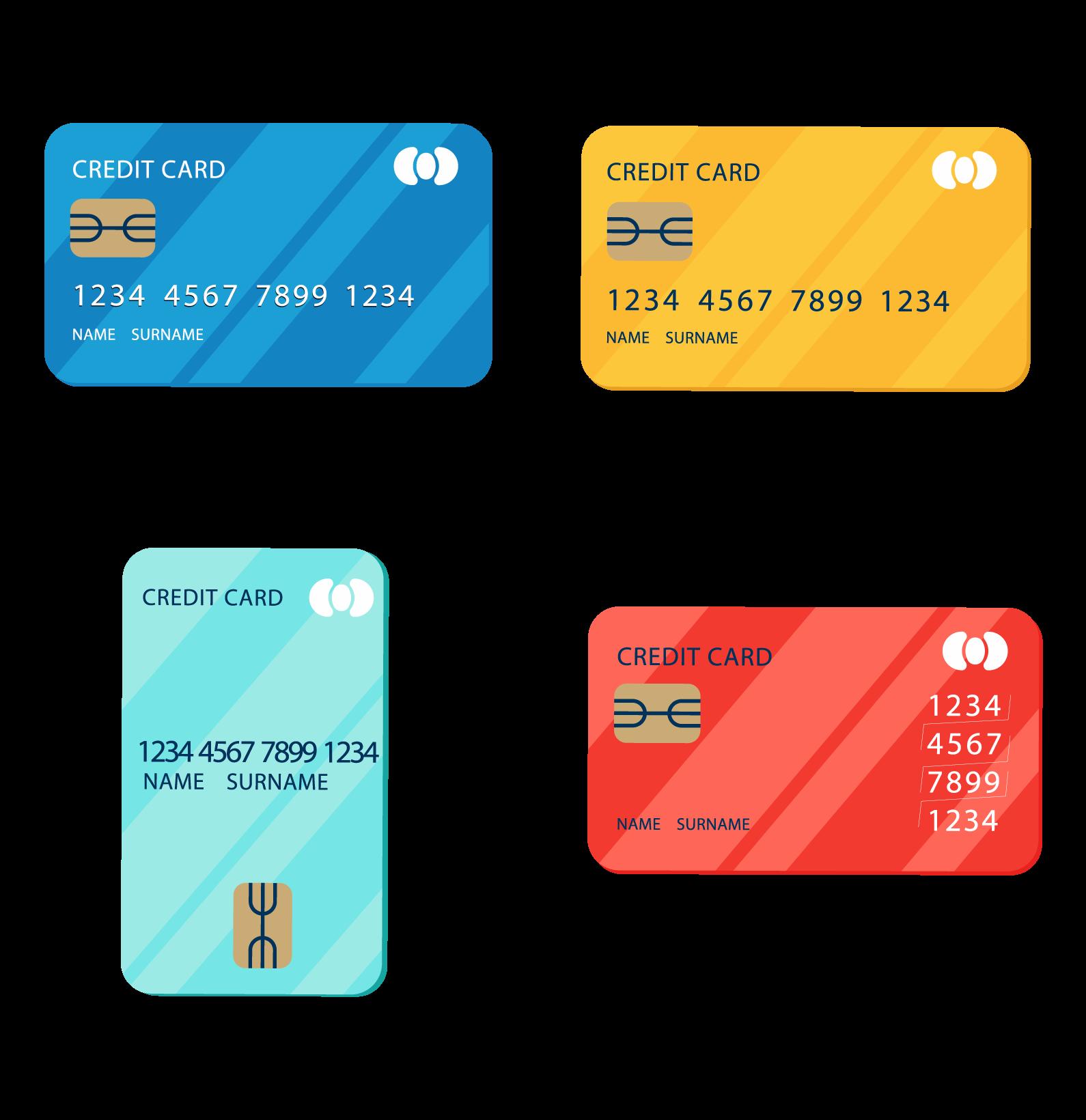 精準各式不同卡片類型